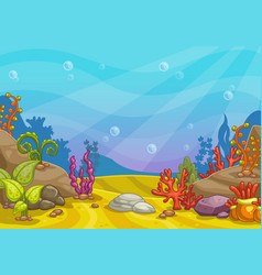 Cartoon underwater background vector