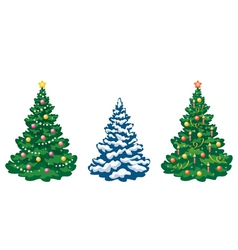 Christmas trees set vector image
