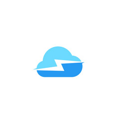cloud charger charging spark logo icon vector image