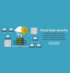 cloud data security banner horizontal concept vector image