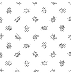 Colorado bugs seamless pattern vector image