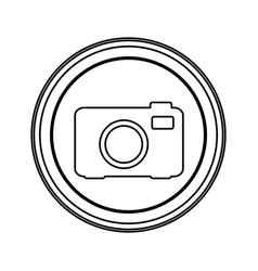 contour emblem camera icon vector image