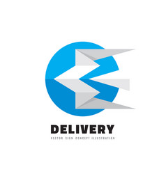 delivery - logo template concept vector image