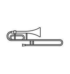Design cornet and pipe symbol graphic vector