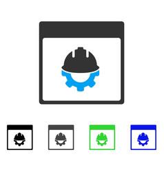 Development calendar page flat icon vector
