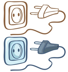 Electrical plug and socket vector image