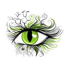 Eye makeup for halloween on vector