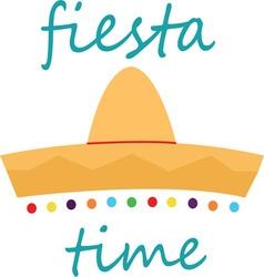 Fiesta Time Hat vector