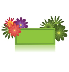 Floral sign vector