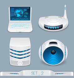 futuristic multimedia devices and technology vector image