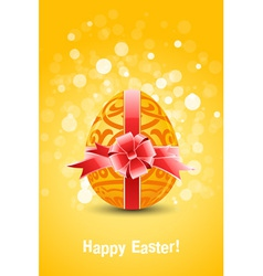 Golden egg easter vector