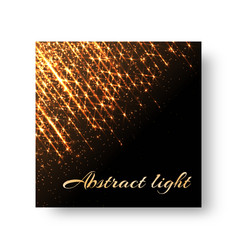 Greeting card with flickering light vector