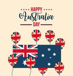 happy australia day celebration vector image