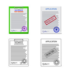 Isolated object of form and document sign vector