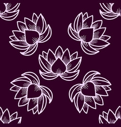 lotus seamless pattern oriental traditional vector image