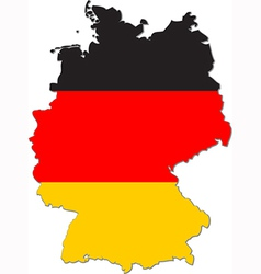 Map of Germany with national flag vector