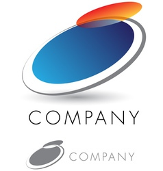 Modern and elegant corporate emblem vector