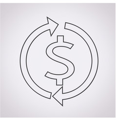 money dollar sign icon vector image