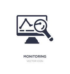 Monitoring icon on white background simple vector