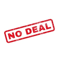 No Deal Rubber Stamp vector image