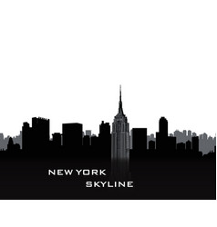 Nyc cityscape urban city skyline travel usa vector