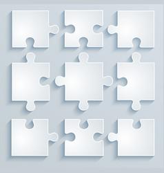 parts paper puzzles vector image
