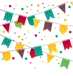 party colorful flags vector image