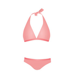 pink swim suit vector image