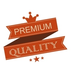 Premium quality vintage ribbon banner vector image