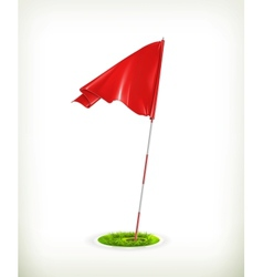 Red golf flag vector image vector image