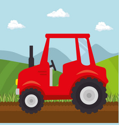 red tractor design vector image