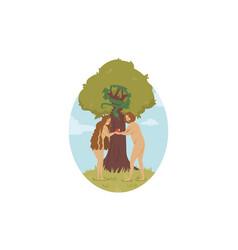 religion christianity bible sin eden adam vector image