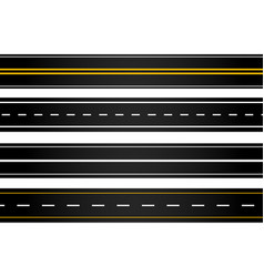 Set different style roads vector