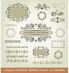Set of calligraphy elements vector