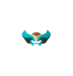 set super hero masks in flat style big vector image