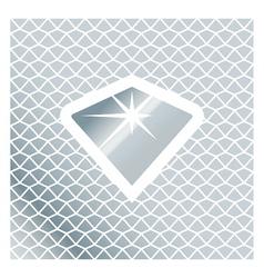 Silver brilliant symbol vector