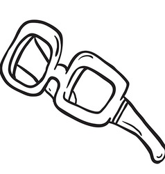 Simple black and white glasses vector