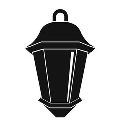 street light icon simple style vector image