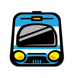 subway train light rail car icon vector image