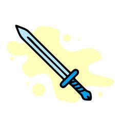 Sword icon outline icon for web design vector