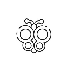 Thin line butterfly icon vector