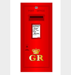 Traditional british georges reign postbox vector