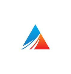 triangle abstract progress logo vector image