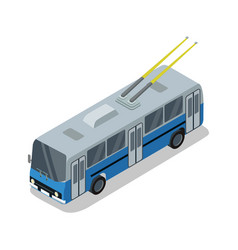 Trolleybus isolated isometric 3d icon vector