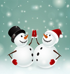 Two snowman vector