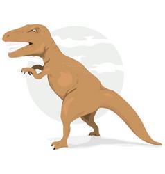 tyrannosaurus rex dinosaur vector image