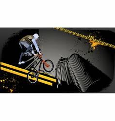 urban biker vector image vector image