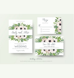 Wedding invite invitation save date rsvp vector