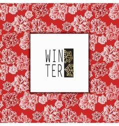 Winter snowflakes design vector