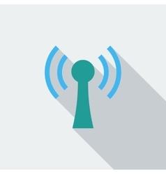 Wireless single flat icon vector image